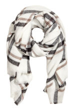 Large scarf - White/Checked - Ladies | H&M 2