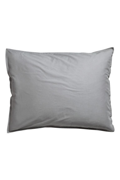 Washed cotton pillowcase - Grey - Home All | H&M CN