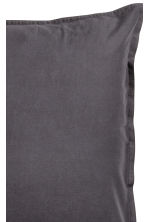 Washed cotton pillowcase - Anthracite grey - Home All | H&M GB 3