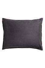 Washed cotton pillowcase - Anthracite grey - Home All | H&M GB 1