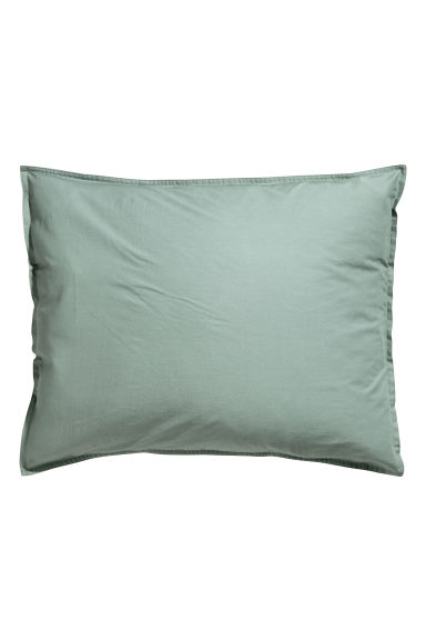 Washed cotton pillowcase - Dusky green - Home All | H&M CA 1