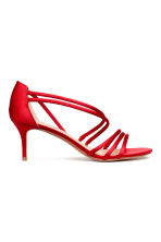 Sandali in satin - Rosso - DONNA | H&M IT 2