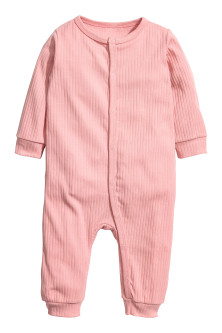 Ribbed all-in-one pyjamas