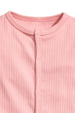 Ribbed all-in-one pyjamas - Light pink - Kids | H&M 2