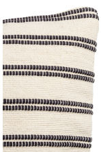 Jacquard-weave cushion cover - White/Striped - Home All | H&M CN 2