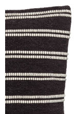 Jacquard-weave cushion cover - Anthracite grey/Striped  - Home All | H&M CN 2