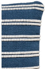 Jacquard-weave cushion cover - Dark blue/Striped - Home All | H&M CN 3
