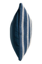 Jacquard-weave cushion cover - Dark blue/Striped - Home All | H&M CN 2