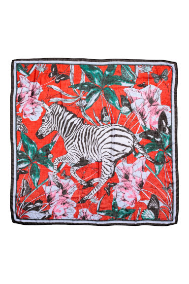 Patterned scarf - Red/Zebra - Ladies | H&M CA 1