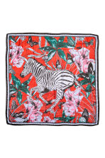 Patterned scarf - Red/Zebra - Ladies | H&M 1
