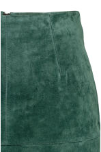 Short suede skirt - Dark green -  | H&M CA 3