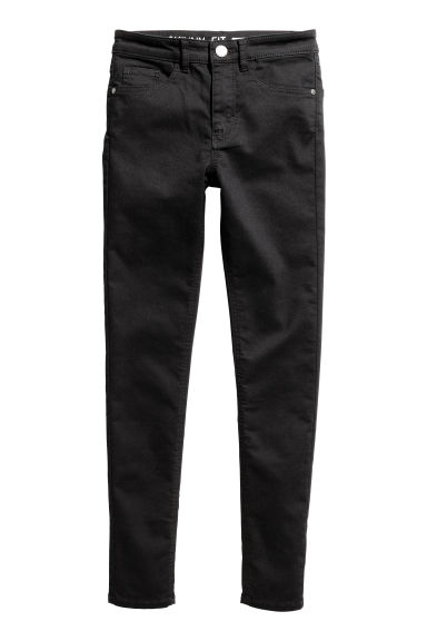 Generous fit Stretch trousers - Black -  | H&M 1
