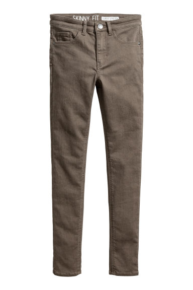 Generous fit Stretch trousers - Khaki green - Kids | H&M 1