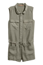 Lyocell playsuit - Khaki green - Ladies | H&M 2