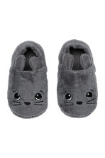 Soft pile slippers - Dark grey - Home All | H&M IE 1