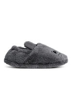Soft pile slippers - Dark grey - Home All | H&M IE 2