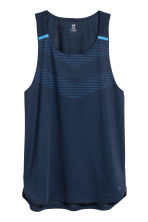 Running top - Dark blue - Men | H&M 2
