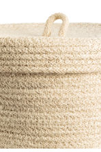Braided jute basket - Natural white - Home All | H&M GB 2