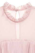 Pleated dress - Light pink -  | H&M 3