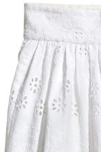 Embroidered cotton skirt - White - Ladies | H&M 3