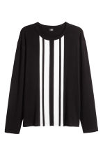 Printed long-sleeved T-shirt - Black - Men | H&M 2
