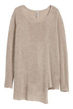 Asymmetric jumper - Grey beige - Ladies | H&M 2