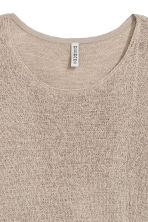 Asymmetric jumper - Grey beige - Ladies | H&M 3