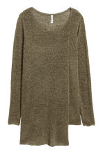 Asymmetric jumper - Dark khaki green - Ladies | H&M 1