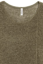 Asymmetric jumper - Dark khaki green - Ladies | H&M 2