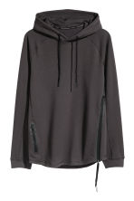 Hooded sports top - Black - Men | H&M 2