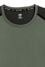 Short-sleeved sports top - Khaki green/Black - Men | H&M CN 3