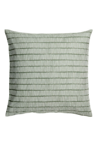 Slub weave cushion cover - Khaki green - Home All | H&M CA 1