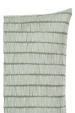 Slub weave cushion cover - Khaki green - Home All | H&M CA 2