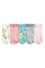 5-pack socks - Light pink/Heart -  | H&M 2
