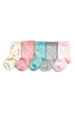 5-pack socks - Light pink/Heart -  | H&M CN 1