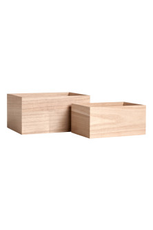 2-pack small wooden boxes