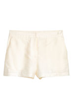 Dressade shorts - Naturvit - Ladies | H&M FI 2