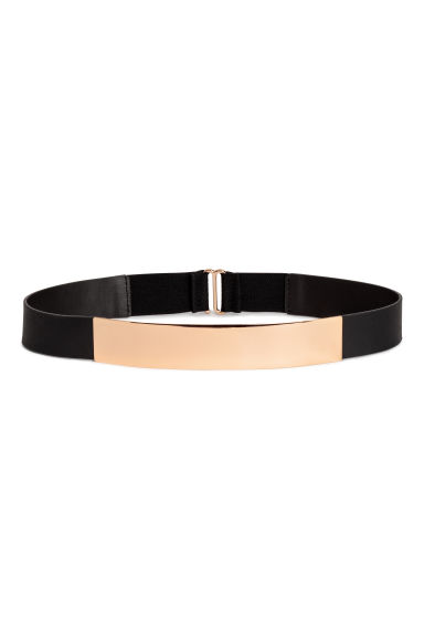 Waist belt with a metal plate - Black - Ladies | H&M CN 1