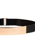 Waist belt with a metal plate - Black - Ladies | H&M CN 2