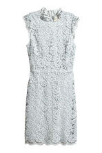 Lace dress - Light grey blue -  | H&M 2