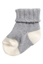 Knitted socks - Grey -  | H&M 1