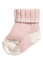 Knitted socks - Pink - Kids | H&M 1