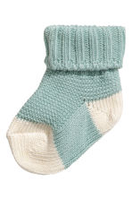 Knitted socks - Turquoise - Kids | H&M 1