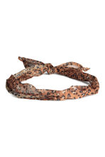 Patterned hair scarf - Leopard print - Ladies | H&M GB 1