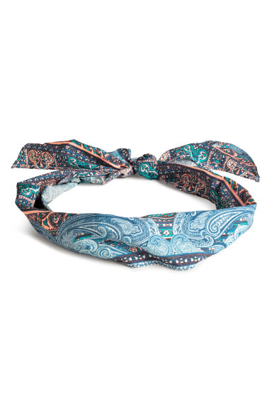 Patterned hair scarf - Dark blue/Paisley -  | H&M CN 1