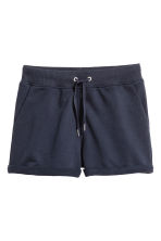 Sweatshirt shorts - Dark blue - Ladies | H&M CN 2