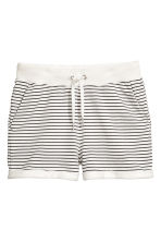 Sweatshirt shorts - White/Striped - Ladies | H&M CN 2
