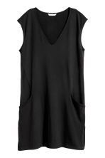 V-neck jersey dress - Black - Ladies | H&M CA 2