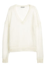Wool-blend jumper - White - Ladies | H&M CN 2