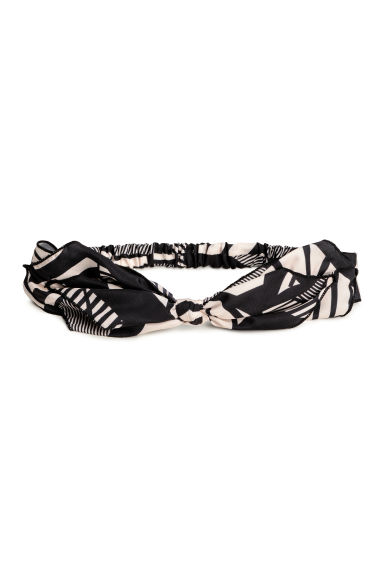 Satin hairband - Black/Patterned - Ladies | H&M CA 1